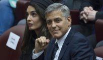 George Clooney y su mujer, Amal.