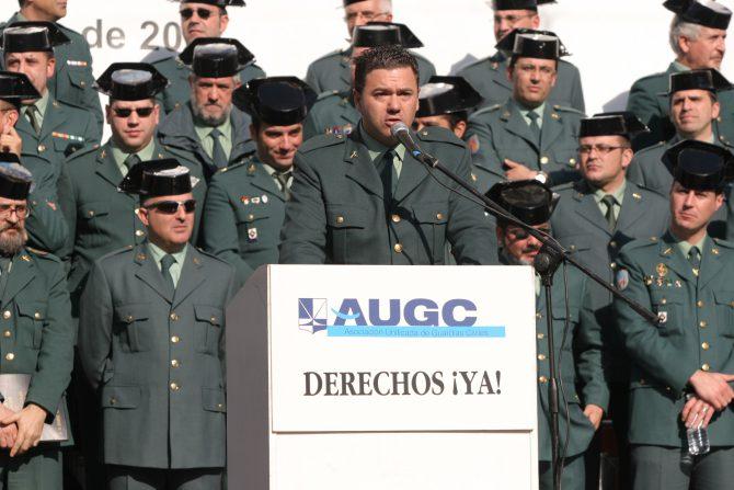 Juan Antonio Delgado, en un acto de la AUGC.