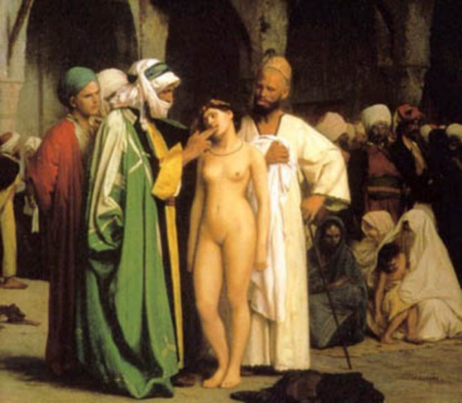 Esclava de raza blanca en Arabia.