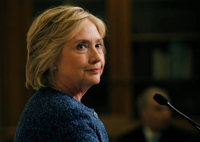 La candidata presidencial del Partido Demócrata, Hillary Clinton.