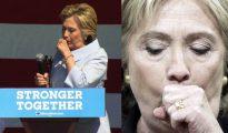 Hillary Clinton tuvo uno de sus ya habituales ataques de tos en Cleveland.