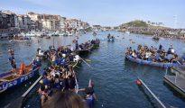 Un momento de la celebración del Día de los Gansos, un desafío que se celebraba ya en el siglo XVII.