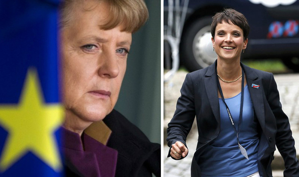 La canciller alemana, Angela Merkel (izquierda), sufrió un duro castigo el 4 de septiembre cuando el partido antiinmigración Alternativa para Alemania, liderado por Frauke Petry (deerecha), quedó por delante de la Unión Cristianodemócrata en las elecciones celebradas en su estado de Mecklemburgo-Pomerania.