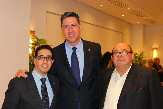 Óscar Fernández Monroy (a la izquierda) y Xavier García-Albiol, en una fotografía de Facebook.