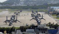 Vista general de la base aérea de la isla de Okinawa, al suroeste de Japón.