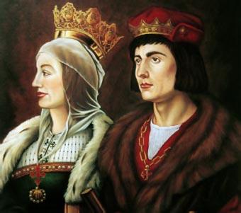 Isabel y Fernando, los Reyes Católicos (óleo de Francis De Blas)