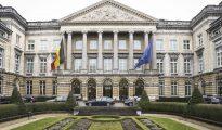 Vista panorámica del exterior del Parlamento belga, en Bruselas (Bélgica), donde se aprobó el proyecto de ley que autorizará la eutanasia infantil.
