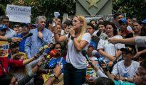 La esposa del líder de la oposición venezolana Leopoldo Lópéz, Lilian Tintori.