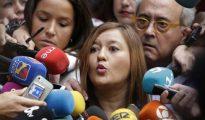 Verónica Pérez comparece ante los medios en Ferraz