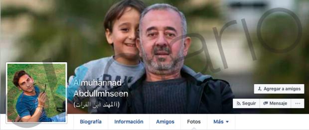 Imagen del perfil de Almuhannad Abdullmhseen, en la que se ve a Mohsen con el pequeño Zaid (OK diario)