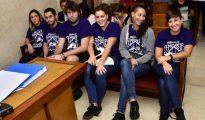 Los acusados durante el juicio celebrado en Palma.  