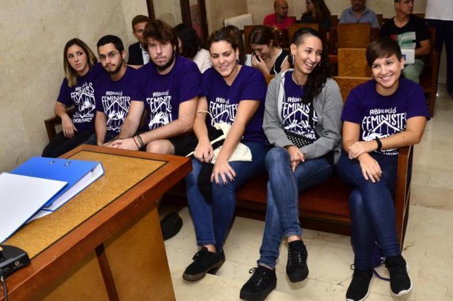 Los acusados durante el juicio celebrado en Palma. |