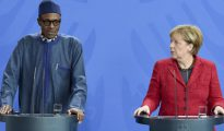 Muhammadu Buhari y Angela Merkel