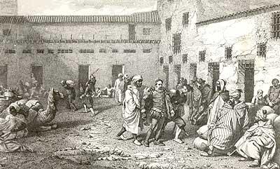 Cervantes fue tratado como esclavo en Argelia.