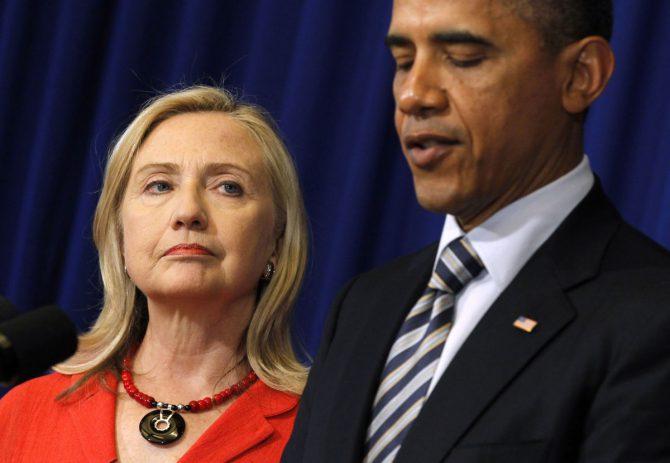 Obama y Clinton.