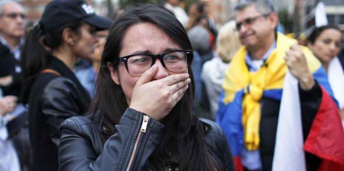 Partidarios del 'sí' muestran su tristeza con el resultado