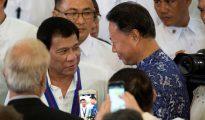 El presidente de Filipinas en China.