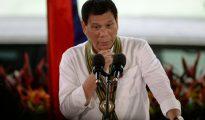 El presidente filipino Rodrigo Duterte el 4 de octubre de 2016 en Manila