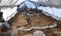 Fotografía facilitada por la Autoridad de Antigüedades de Israel del lugar de excavación en el Complejo Ruso, en el centro de la parte oeste de Jerusalén.