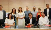 Miembros de la gestora del PSOE.