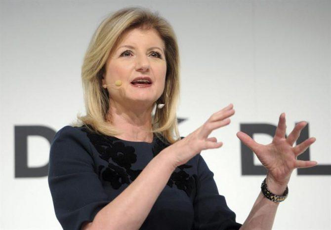 Arianna Huffington, editora jefe del periódico digital The Huffington Post.