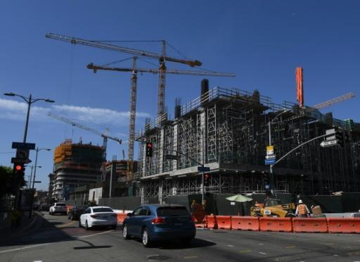 Una residencia y un hotel en construcción en Los Ángeles por el conglomerado chino Oceanwide Holdings el 23 de septiembre de 2016