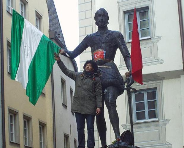 Estatua de Don Juan de Austria en Ratisbona (Alemania) atacada en 2013 por un marroquí