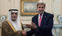 El secretario de Estado, Kerry, con su colega saudí, Al Jubeir