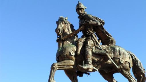 Estatua de Juan de Oñate en Alcalde, Nuevo México