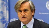 En la imagen, el embajador de España ante la ONU, Román Oyarzun.