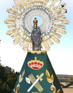 La Virgen del Pilar, patrona de la Guardia Civil.