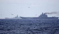 Portaaviones Admiral Kuznetsov y crucero de propulsión nuclear Piotr Veliki