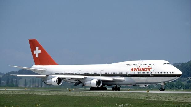 Un avión de Swissair