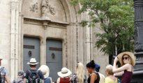 Turistas en el centro de Valencia.