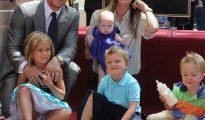 Mark Wahlberg y su familia.