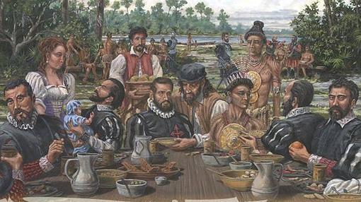 Primera comida de Acción de Gracias, San Agustín septiembre de 1565