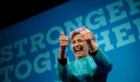 Hillary Clinton, durante un acto de recaudación de fondos en Seattle