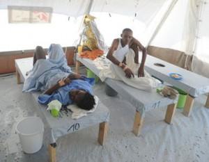 Cubanos enfermos de cólera.