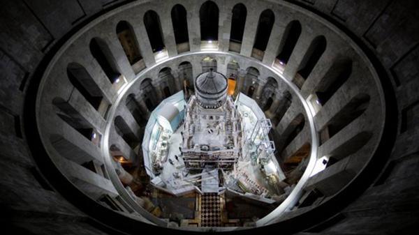 La iglesia del Santo Sepulcro, en Jerusalén, donde se ubica la tumba de Cristo, según la tradición cristiana
