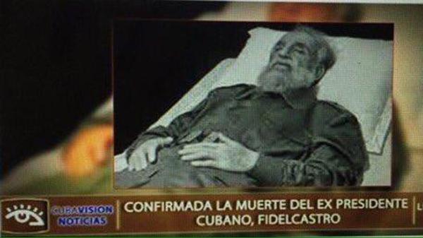 En agosto de 2014 la imagen del supuesto cuerpo sin vida de Fidel Castro ya circulaba por blogs y redes sociales