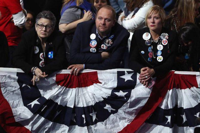 Los seguidores demócratas han pasado una jornada amarga