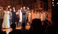 """Imagen del discurso de un actor de """"Hamilton"""" contra el próximo gobierno de EEUU"""