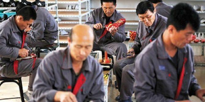 Trabajadores chinos en situación de semiesclavitud.