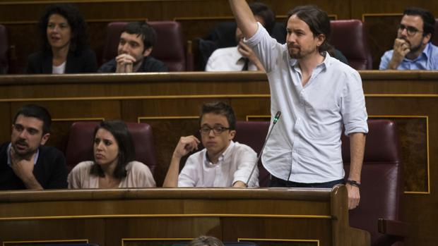 Espinar, el sábado en el Congreso en la bancada de Podemos