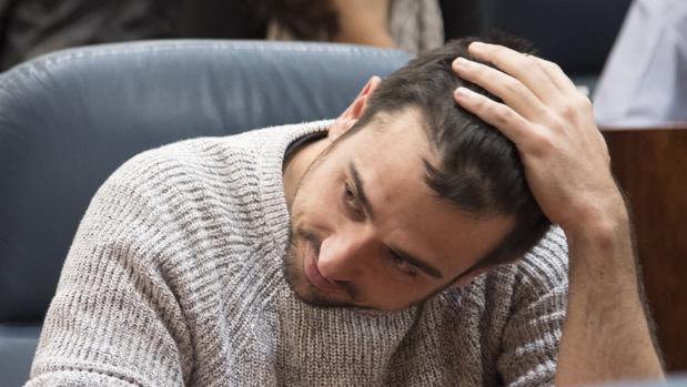 El diputado regional y senador de Podemos, Ramón Espinar
