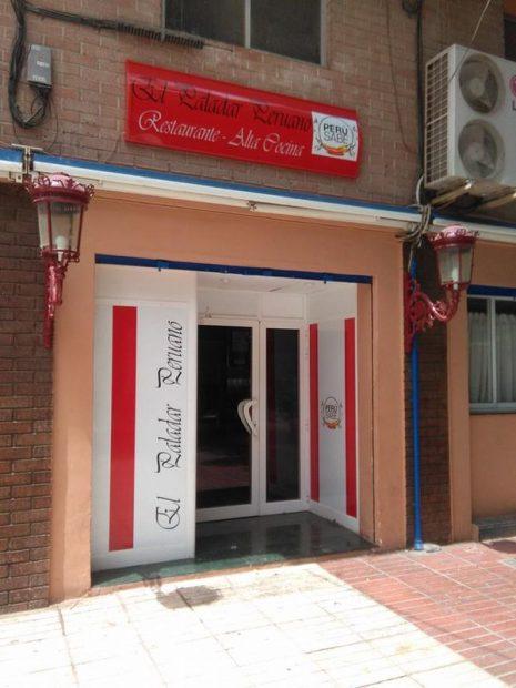 """Fachada del restaurante """"El paladar peruano"""", regentado por el primo de Monedero."""