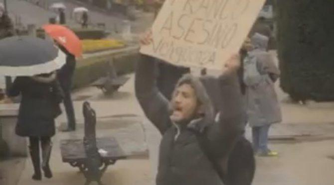 El agredido es Lagarder Danciu, un activista «okupa» que ya ha protagonizado otras protestas