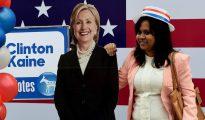 Una votante de Clinton cuando aún tenía esperanzas de que podría ser la próxima presidenta de EE.UU.