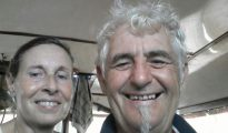 Sabine Merz y Jürgen Kantner, en momentos felices. Ella fue asesinada en el barco, él secuestrado por el Estado Islámico