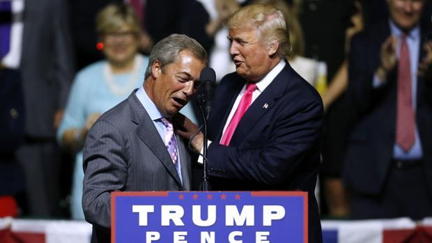 Nigel Farage participó en un acto de la campaña de Donald Trump, el pasado agosto en Misisipi